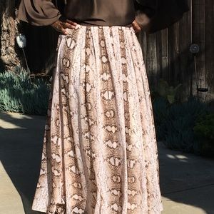 Women's Long Chiffon Snakeskin Skirt